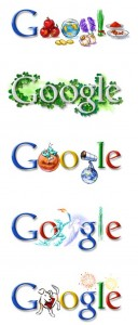 Google logos over the years