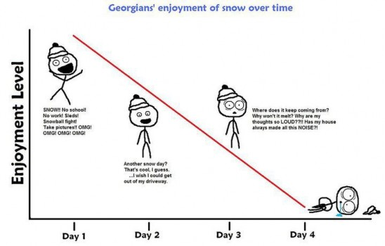 How Georgians reacted to Snowpocalypse 2011